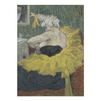 El payaso Cha-U-Kao de Enrique de Toulouse-Lautrec Impresión Fotográfica