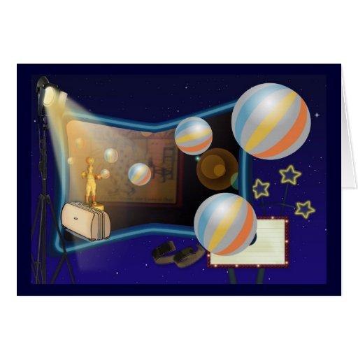El payaso del globo tarjeta de felicitación