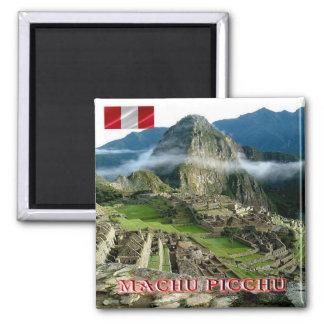 El PE - Perú - Machu Picchu Imán Cuadrado