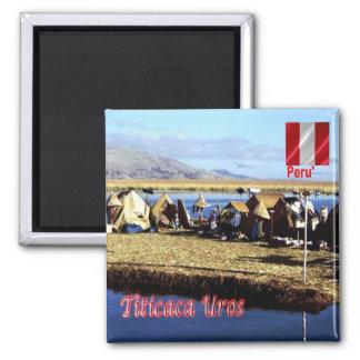 El PE - Perú - Titicaca - Uros Imán Cuadrado