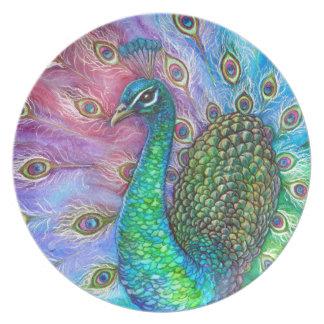El Peacock. perfecto Plato De Comida