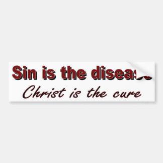 El pecado es la enfermedad etiqueta de parachoque
