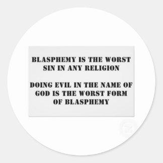 El pecado peor pegatina redonda