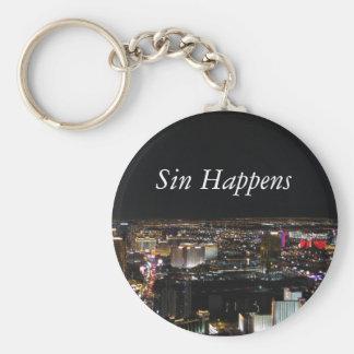 El pecado sucede llaveros personalizados
