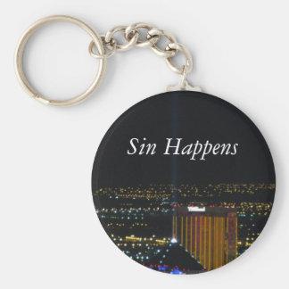 El pecado sucede llavero redondo tipo pin