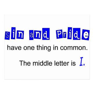 El pecado y el orgullo tienen una cosa en campo co postal