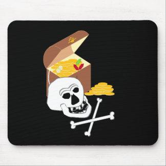 El pecho del pirata tapete de ratones