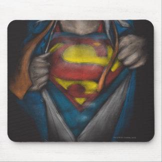 El pecho del superhombre el | revela el bosquejo mousepads
