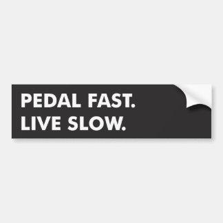 El pedal ayuna, vivo se reduce pegatina para auto
