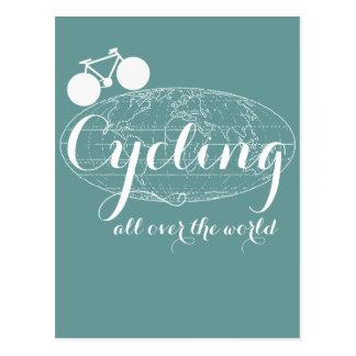 el pedaling biking de ciclo de la bici del ciclo tarjeta postal