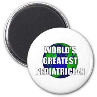 El pediatra más grande del mundo imán redondo 5 cm