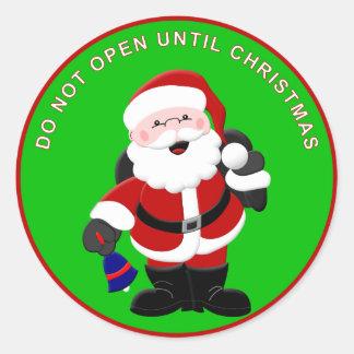 El pegatina 2 de Santa - no se abra hasta navidad