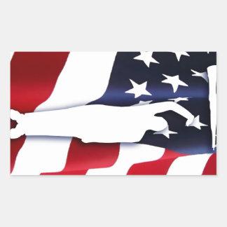 El pegatina americano de la taladradora del