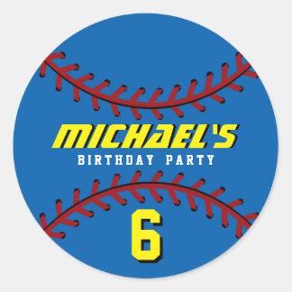 El pegatina azul del béisbol se divierte a la
