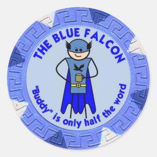 El pegatina azul del personalizado del halcón