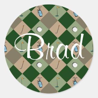 El pegatina Brad del nombre del modelo del