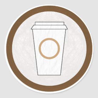 El pegatina caffeinated estancia