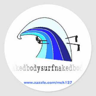 El pegatina clásico de la ropa de BSN Bodysurfing