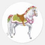 El pegatina color de rosa del caballo