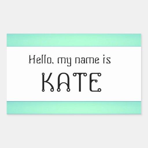El pegatina conocido de la etiqueta hola mi nombre