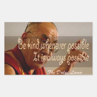 El pegatina de Dalai Lama
