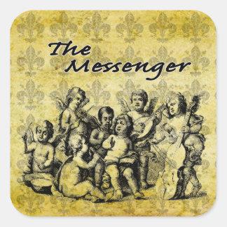 El pegatina de encargo V1 del mensajero