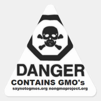 El pegatina de GMO dice no al apoyo de GMO. 37