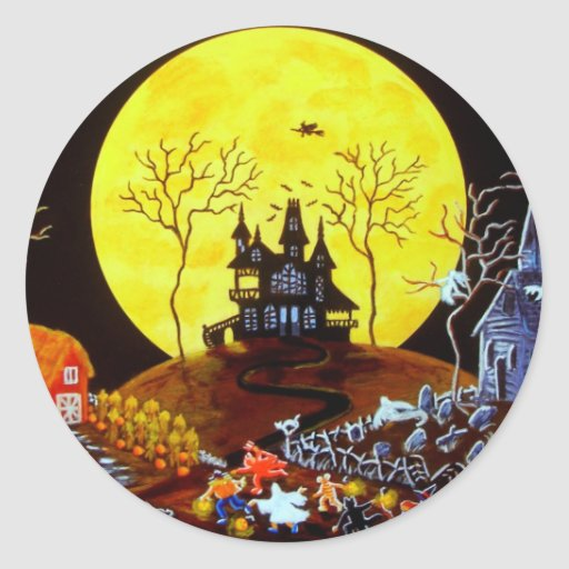 """El pegatina de Halloween titulado """"guarda el"""