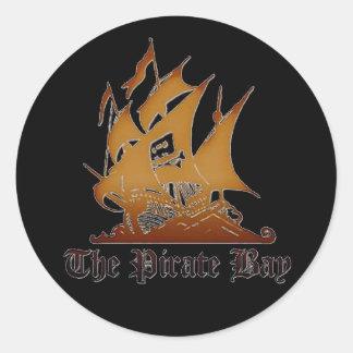 El pegatina de la bahía del pirata