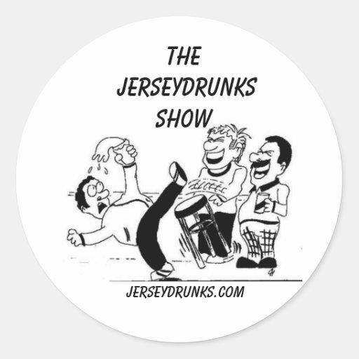 El pegatina de la demostración de Jerseydrunks