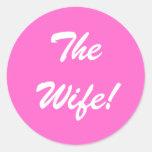 El pegatina de la esposa