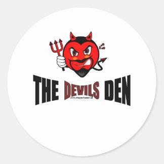 El pegatina de la guarida de los diablos