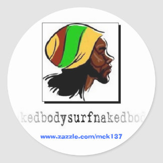 El pegatina de Rasta de la ropa de BSN Bodysurfing