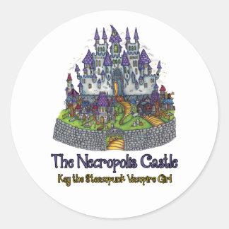 El pegatina del castillo de la necrópolis
