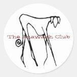 El pegatina del club de Azawakh