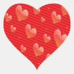 El pegatina del corazón rojo