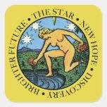 El pegatina del cuadrado de la estrella con el tex