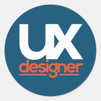 El pegatina del diseñador de UX