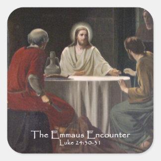 El pegatina del encuentro de Emmaus