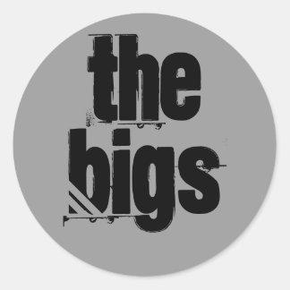 El pegatina del funcionario de Bigs