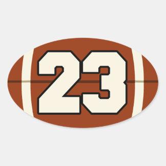 El pegatina del fútbol del número 23