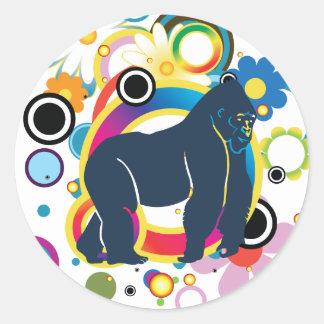 El pegatina del gorila