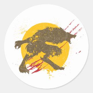 El pegatina del hombre lobo