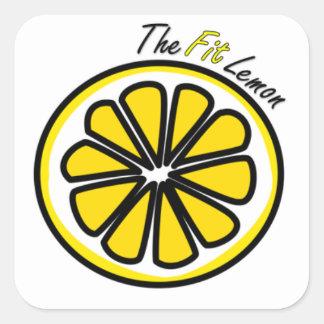 El pegatina del limón del ajuste