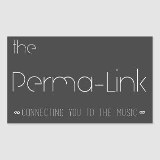 El pegatina del logotipo del Perma-Vínculo Pegatina Rectangular
