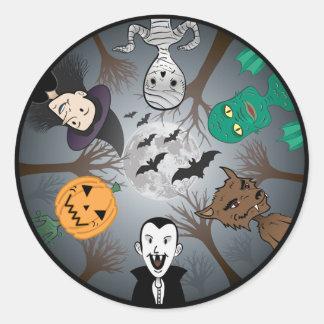 El pegatina del monstruo de Halloween