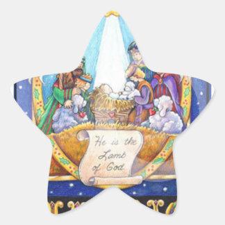 El pegatina del navidad de la estrella
