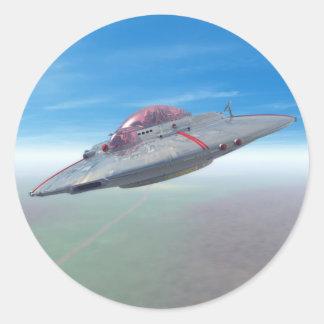 El pegatina del platillo volante