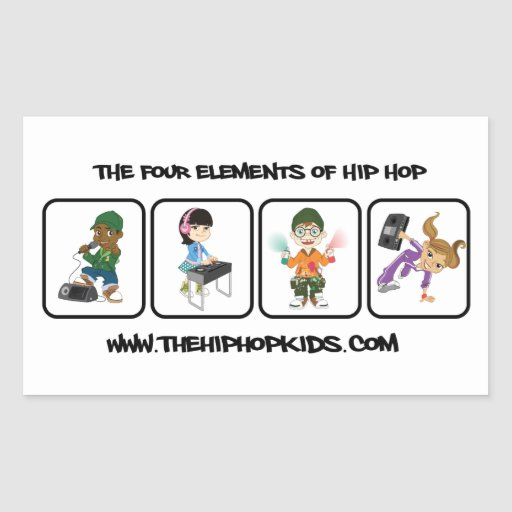 El pegatina del promo de los niños de Hip Hop