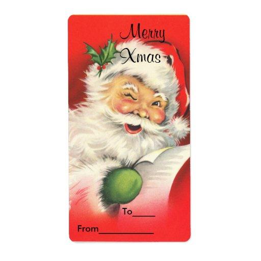 El pegatina del regalo de Navidad de la etiqueta m Etiqueta De Envío
